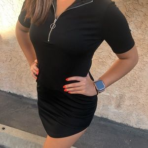 Black dress fitted